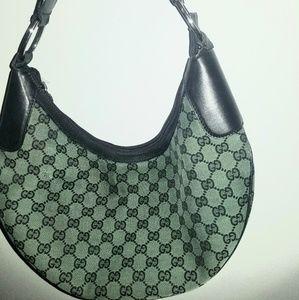 Gucci green and black bag